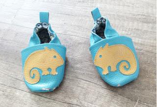 couture chaussons cuir bébé