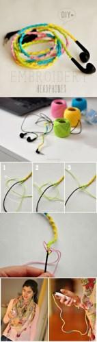 Décorer des fils d'écouteurs