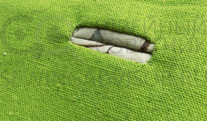 coudre une boutonnière en tissu
