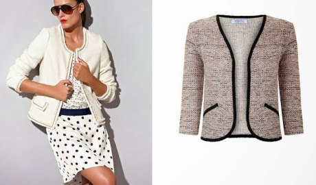 Patron veste tweed Chanel
