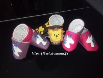 Couture chaussons simili cuir