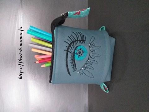 Tuto et patron trousse pot à crayon slide pouch