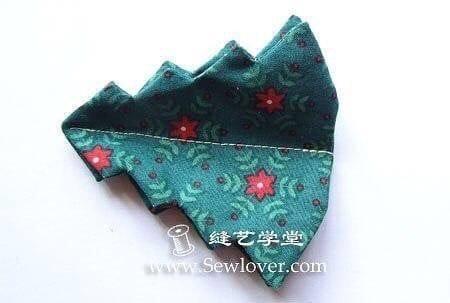 Sapin de Noël décoratif de table en tissu
