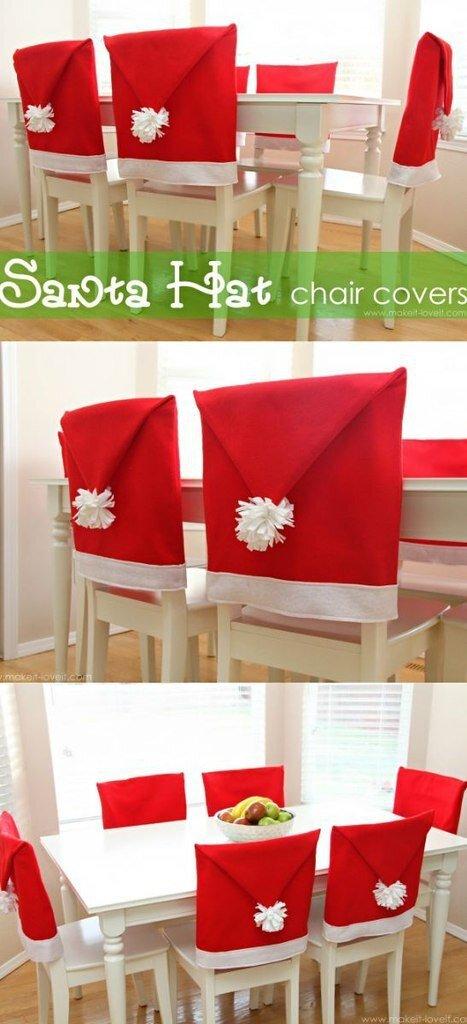 Couvre chaise bonnet de père Noël