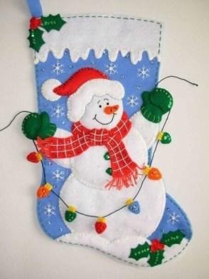 Coudre une botte de Noël