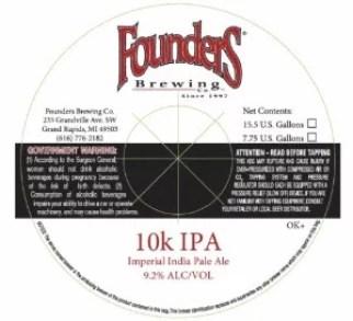 founders 10k ipa