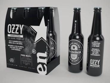 Heineken Veste Preto para Homenagear ultima turnê de Ozzy Osbourne