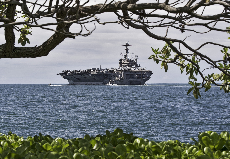 Uss John C Stennis Departs Pearl Harbor