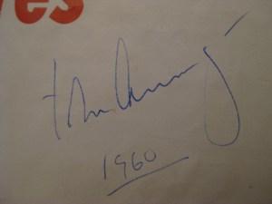 Profiles in Courage JFK 1st Ed Brochure Signature