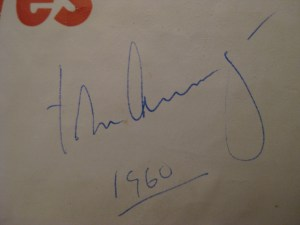 Profiles in Courage JFK 1st Ed Brochure Signature