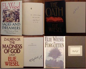Elie Wiesel Four Signed Books