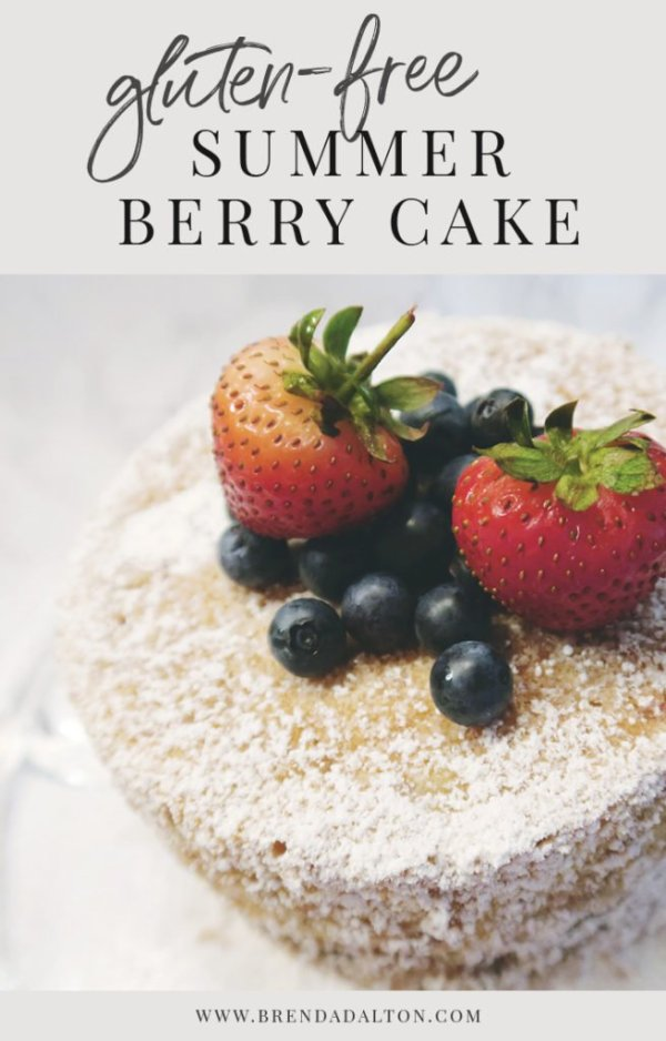 Gluten-Free Cake with Berries and no icing from BrendaDalton.com