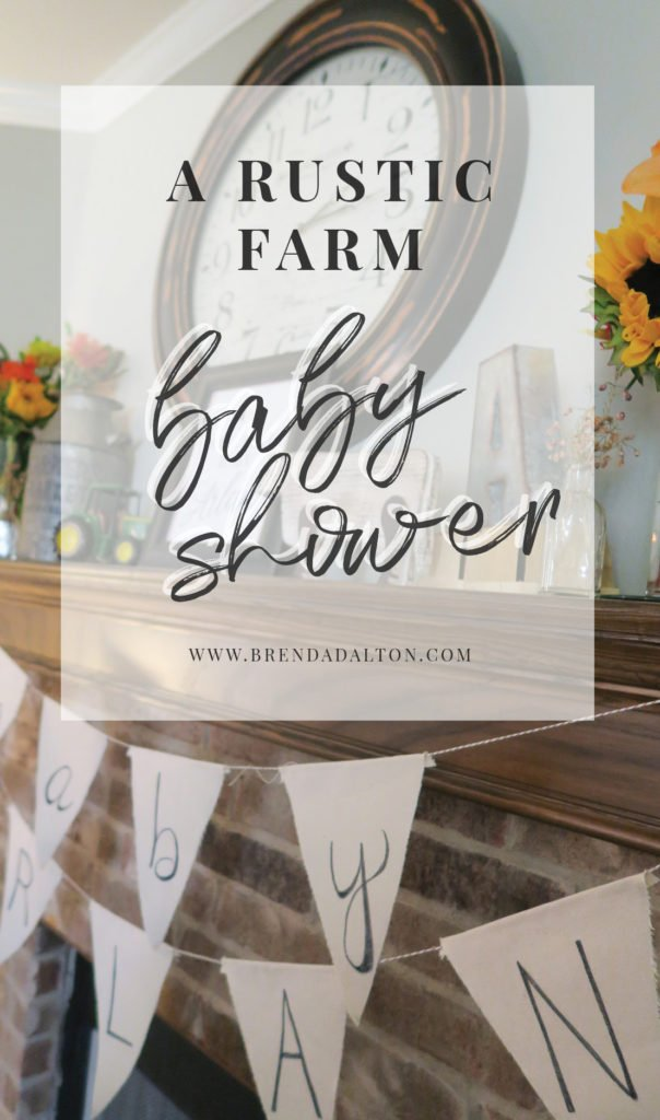 A Rustic Farm Baby Shower, complete with bundt cakes, rustic decor, farm animals, baby shower games and popcorn bar.