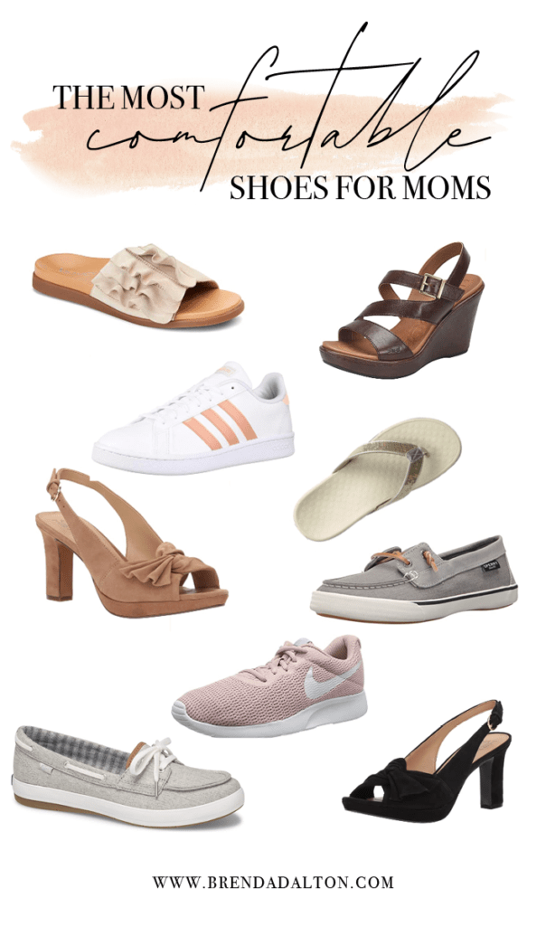 The Most Comfortable Shoes for Moms. Check out the best sneakers, casual shoes and heels for moms. Great shoe options for chronic illness and arthritis.