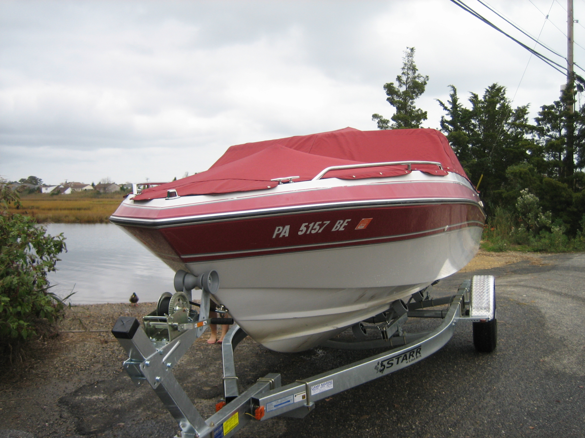 New boat on the trailer