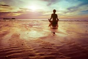 woman meditating strong