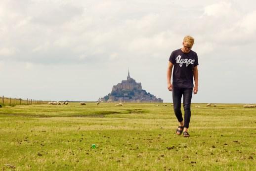 walking in pasture agape tshirt