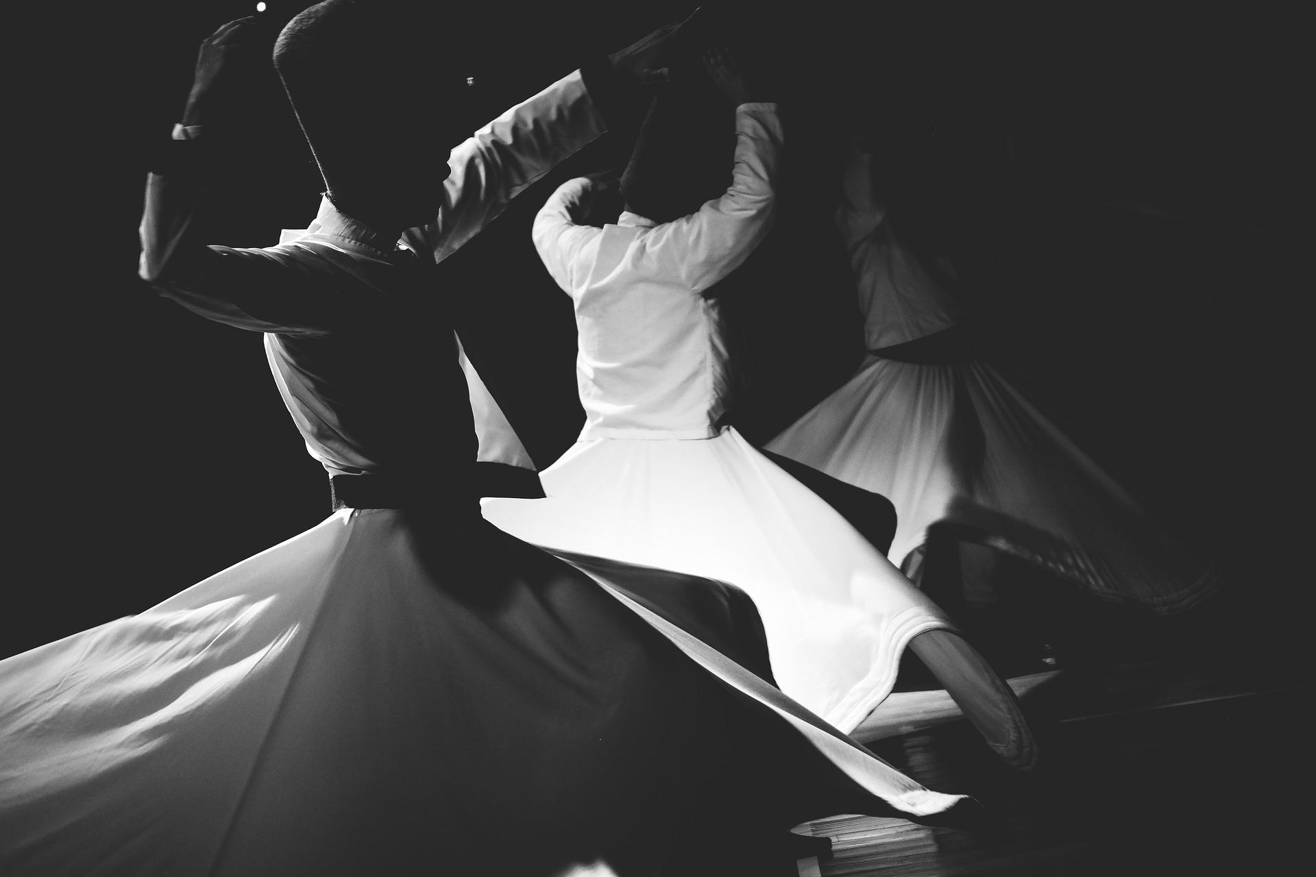 black and white women dancing