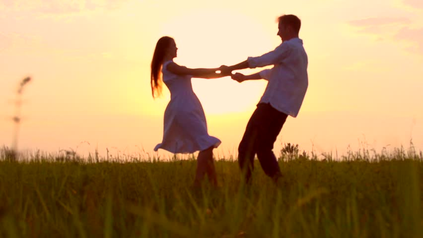 dancing in field