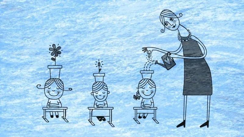 teacher watering minds
