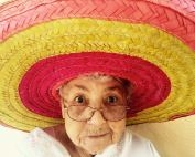 older woman in sombrero