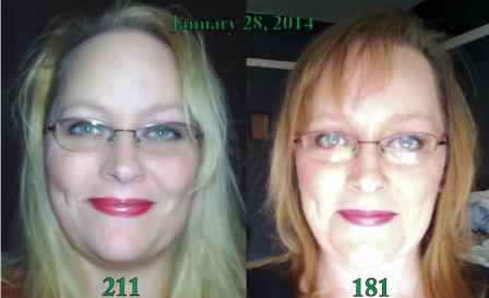 Bad selfies. The picture on the right was taken on January 28, 2014 at 181 pounds.