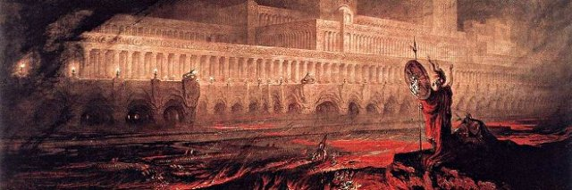 John Martin's Pandemonium, 1841, Web Gallery of Art, via Wikimedia Commons, used w/o permission.