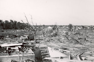 Beecher, Michigan. June 9, 1953, following the June 8 tornado. From NOAA, used w/o permission