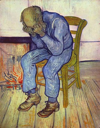 Vincent van Gogh's  Sorrowing Old Man' or 'At Eternity's Gate.' (1890)