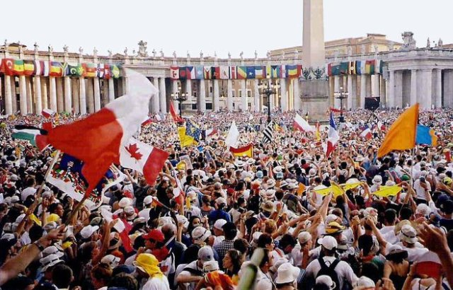 World Youth Day 2000, Rome, from sporki, via Wikimedia Commons, used w/o permission.