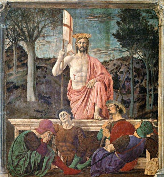 'The Resurrection of Jesus Christ,' Piero della Francesca. (1463)