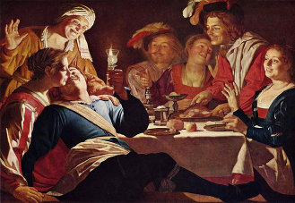 Gerard van Honthorst's Der verlorene, via Wikimedia Commons, used w/o permission.
