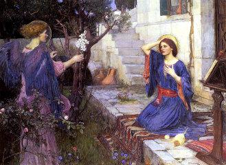 John William Waterhouse, 'The Annunciation.' (1914)
