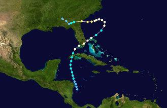 1947 Hurricane Eight's storm track.