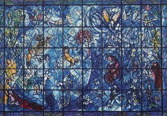 The 'Chagall Window,' United Nations Headquarters; a memorial to Dag Hammarskjöld, second UN Secretary-General. (1964)