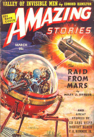 Amazing Stories magazine cover. (March 1939)