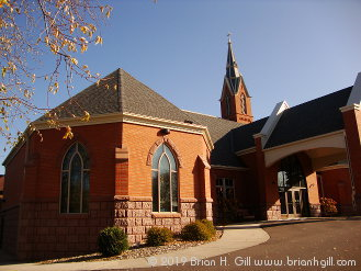 St. Paul's Church and its new addition. The St. Faustina Adoration Chapel is to your left.