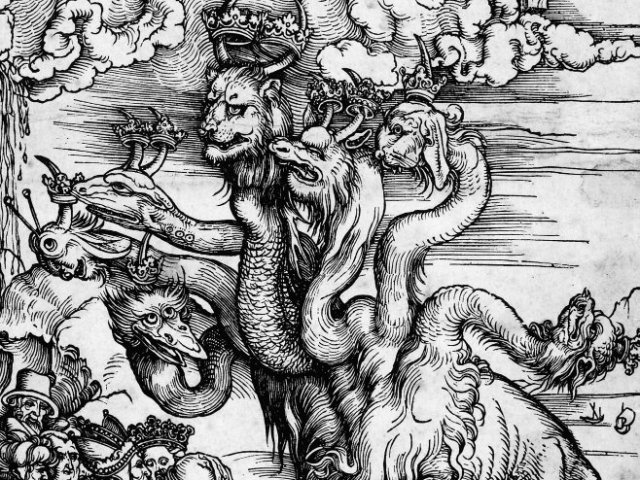Albrecht Dürer, '...The Sea Monster and the Beast with the Lamb's Horn.'