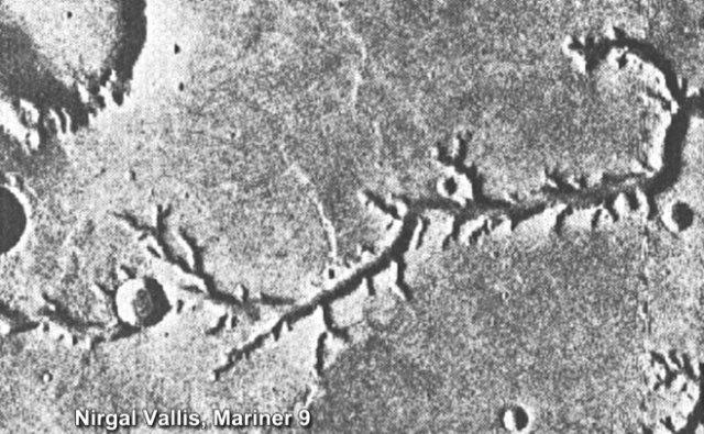 Nirgal Vallis, Mars, from Mariner 9.