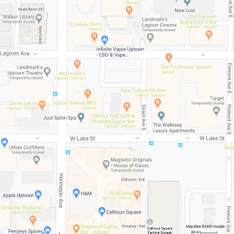 Temporarily closed businesses in Minneapolis, Minnesota. (June 21, 2020)