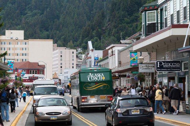 Juneau, Alaska, looking north on South Franklin Street.