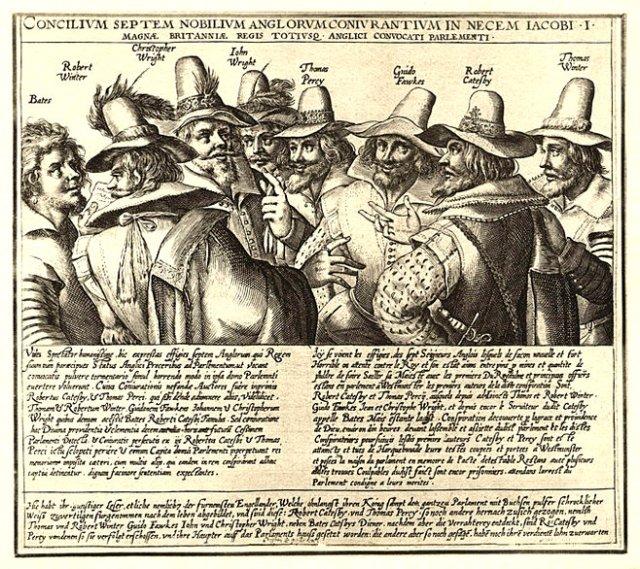 Crispijn van de Passe's Gunpowder Plot conspirators. (1605)