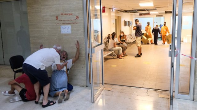 Beirut Hospital: grief and waiting.
