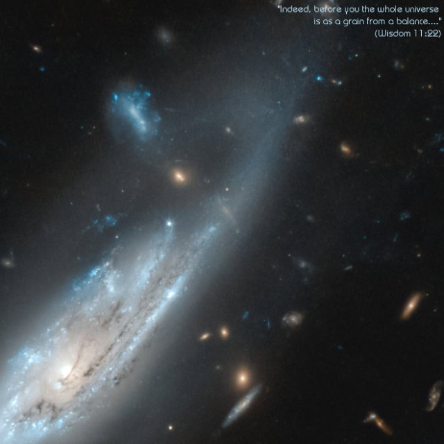 NGC 4848 and other galaxies, image by Hubble/ESA.