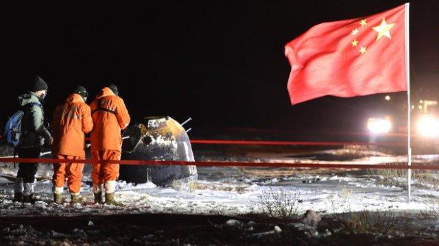 China's Chang'e-5 return capsule, after Inner Mongolia landing.