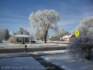 After freezing fog, here in Sauk Centre, Minnesota's south side. (January 2, 2021)