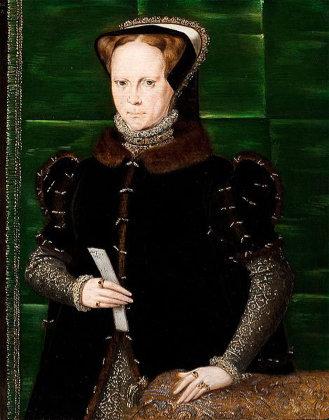 Hans Eworth's portrait of England's Mary I. (1555-1558)