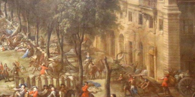 Michel Serre's 'Vue du Cours pendant la peste de 1720.' (1721)