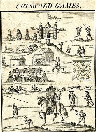 'Cotswold Games' woodcut, from the cover of Annalia Dubrensia.'(1636)