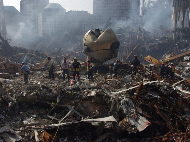 Photo of 'The Sphere,' by FEMA/Michael Rieger. (September 21, 2001)